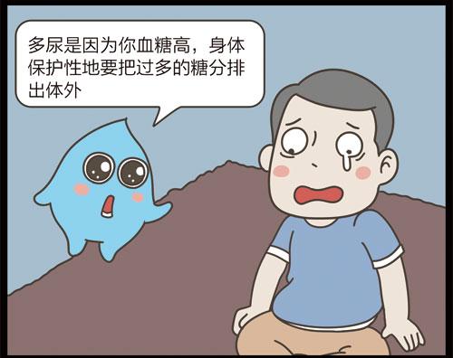 掌控糖尿病漫画-饮食篇喝水和多尿有关6
